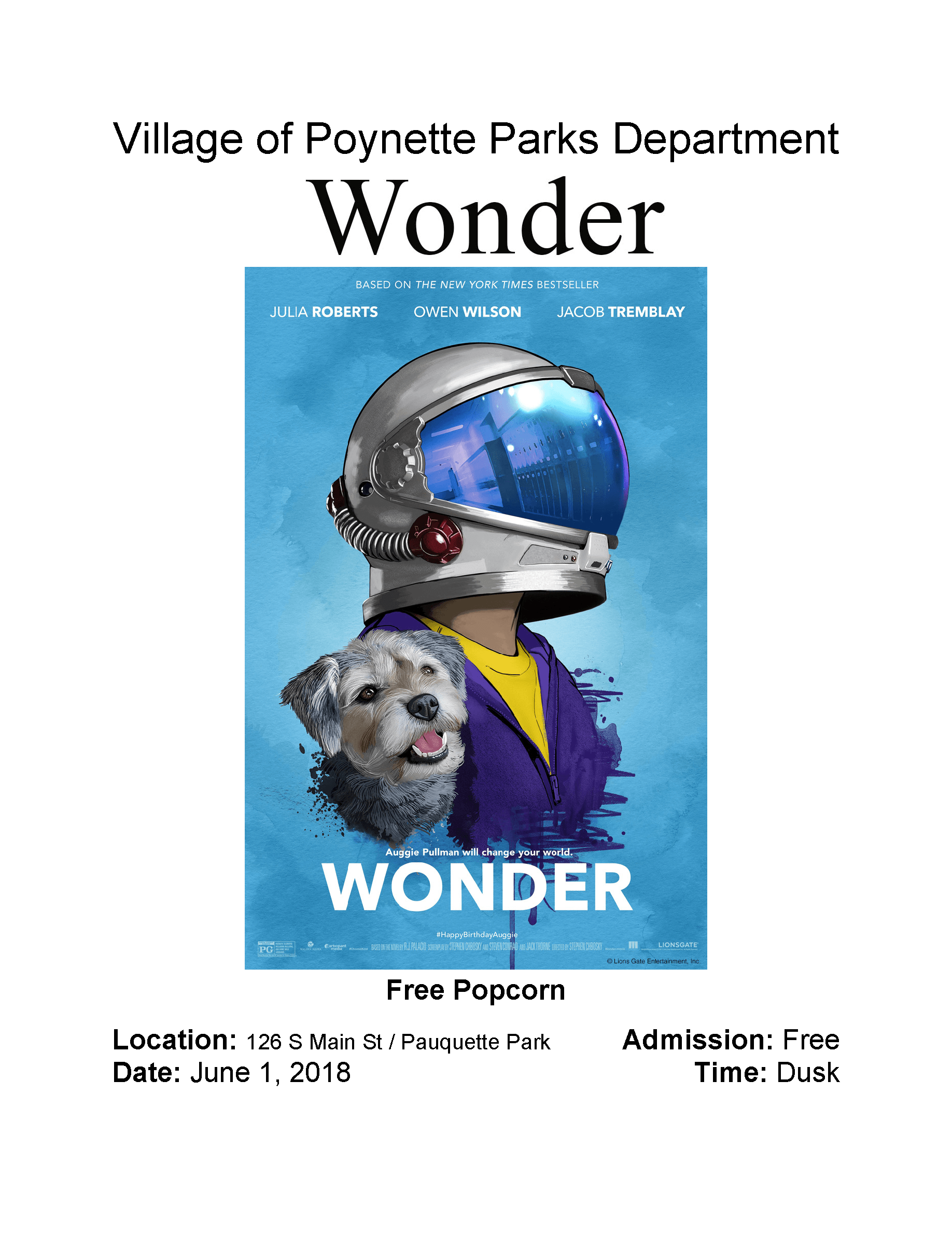 Wonder Movie 6.1.18